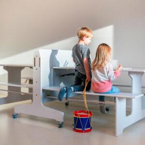 Mobilt Dobbeltbord med bænke